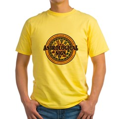 Astrological Sign Yellow T-Shirt