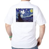 Starry Dove Golf Shirt