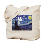 Starry Dove Tote Bag