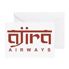 Ajira Airways Greeting Card