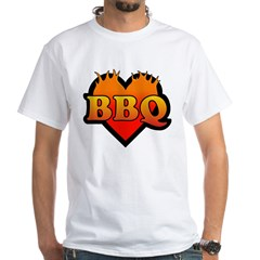 BBQ Love White T-Shirt