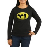 Bat Man Women's Long Sleeve Dark T-Shirt
