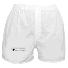 Screw the Cheerleader - Save the Whales Boxer Shorts