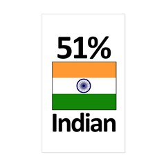51% Indian Sticker (Rectangle)