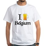 I Love Belgium (Beer) White T-Shirt