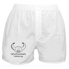 Lillihammer Norway Viking Hat Boxer Shorts