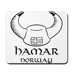 Hamar Norway Viking Hat (B&W) Mousepad