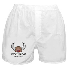 Evenstad Norway Viking Hat Boxer Shorts