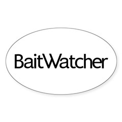 BaitWatcher Sticker (Oval)