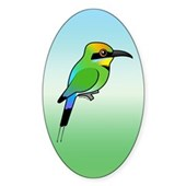 Rainbow Bee-eater Oval Sticker