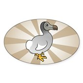 Birdorable Dodo Oval Sticker