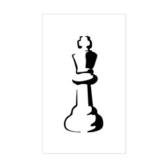 Chess Piece Sticker (Rectangle)