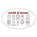 World of Power Sticker (Oval)