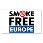 Smoke Free Europe Sticker (Rectangle)