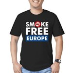 Smoke Free Europe Men's Fitted T-Shirt (dark)