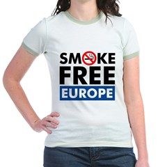 Smoke Free Europe Jr. Ringer T-Shirt