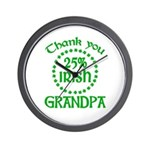 25% Irish - Grandpa Wall Clock