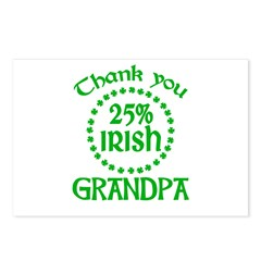 25% Irish - Thank You Grandpa Postcards (Package of 8)