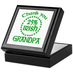 25% Irish - Thank You Grandpa Keepsake Box