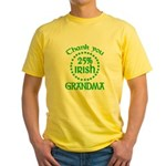 25% Irish - Thank You Grandma Yellow T-Shirt