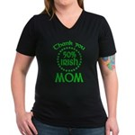 50% Irish - Mom Women's V-Neck Dark T-Shirt