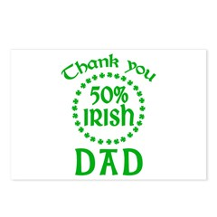 50% Irish - Thank You Dad Postcards (Package of 8)