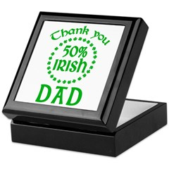 50% Irish - Thank You Dad Keepsake Box