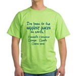 Happiest Places on Earth Green T-Shirt