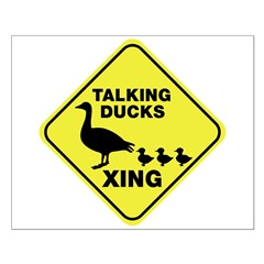 Talking Ducks Crossing Small Poster
