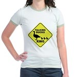 Talking Ducks Crossing Jr. Ringer T-Shirt