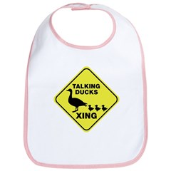 Talking Ducks Crossing Bib