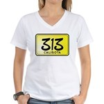 313 License Plate Women's V-Neck T-Shirt