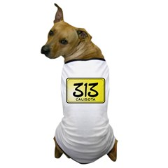 313 License Plate Dog T-Shirt