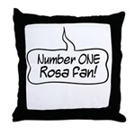 Number One Rosa Fan Throw Pillow