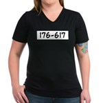 176-617 Women's V-Neck Dark T-Shirt
