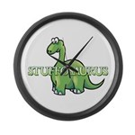 Stuffosaurus Logo Large Wall Clock