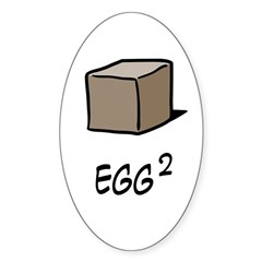Square Egg Sticker (Oval)