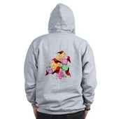  Hawaiian-style 'I'iwi Zip Hoodie