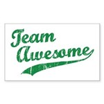 Team Awesome Rectangle Sticker