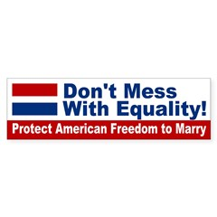 Protect Freedom to Marry Bumper Sticker