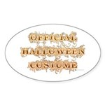 Official Halloween Costume Oval Sticker (50 pk)