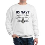 Navy Brother-in-law defending Sweatshirt