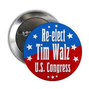 Re-elect Tim Walz to Congress patriotic congressional campaign button