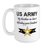 Army Brother-in-law Defending Large Mug