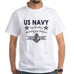 US Navy Brother Defending White T-Shirt