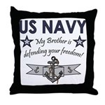US Navy Brother Defending Throw Pillow