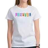 Colorful Retro Liberal Women's T-Shirt
