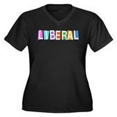 Colorful Retro Liberal Women's Plus Size V-Neck Da