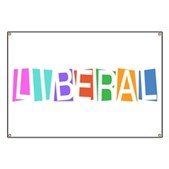 Colorful Retro Liberal Banner