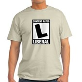 Content Rated Liberal Light T-Shirt